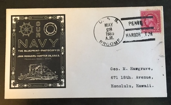 Scott 634 naval ship cover uss broome the itty bitty stamp company scott malvernweather Gallery